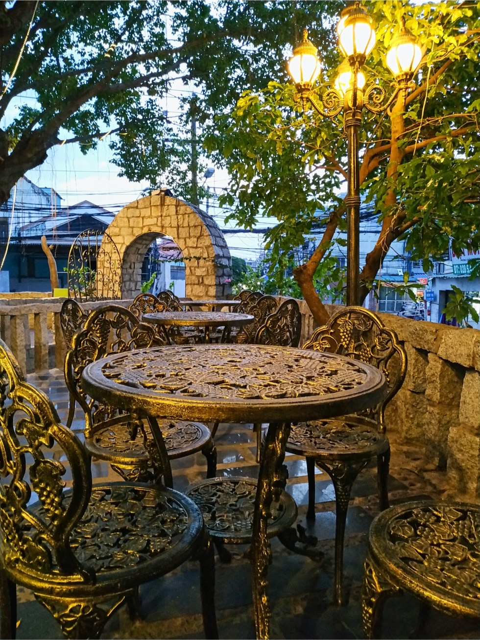 Stone Castle Cafe Seating